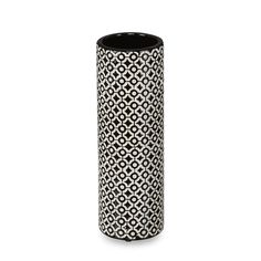Vase en céramique motifs ronds noirs et blancs H30,5cm Noir et blanc - Siana - Les vases - Vases et objets de déco - Salon et salle à manger - Décoration d'intérieur - Alinéa