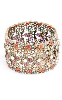 Vintage Multicolor Metal Bracelet