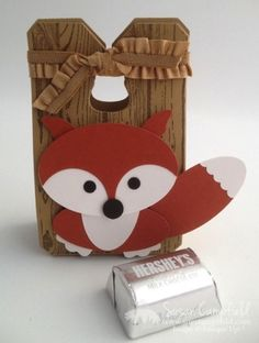 Punch Art Fox with Hardwood and Just Sayin' with Word Bubble Framelits8-imp