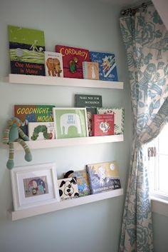 low profile book shelves