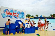 Lifeguards and guests spent the morning dumping bucket loads of refreshing ice into the massive LEGO® wave pool where they got to splish and splash through ice-capped waves for some beat the heat fun.
