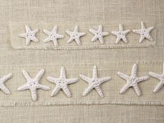 "Love these: matte white STARFISH, handmade, ceramic button - 2"" or 4"" options"