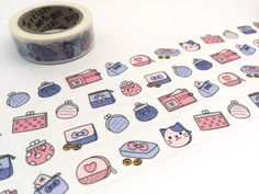 purses hand bag washi tape 10M little bags girl by TapesKingdom
