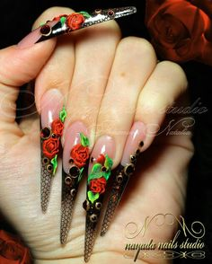 .Stiletto Red Roses