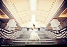 Brides and photographers love the Jacksonville Public Library's grand staircase at Main library Downtown!