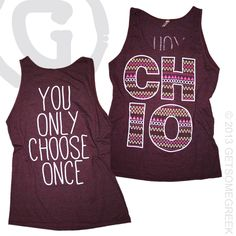 CHI OMEGA CUSTOM GROUP ORDER ON SIMPLE TRIBAL PATTERN AND ADORABLE LARGE CHI O LETTERS!! GSG & CHI OMEGA!