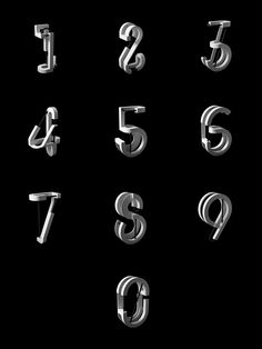 A set of technical but simple numerals 0-9. Created in with a minimal monochrome approach.