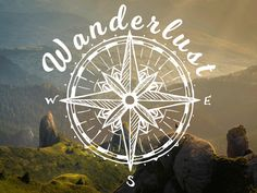 Wanderlust decal with compass rose. Script wanderlust sticker. Travel decal. Hiking car decal. by StickermaniaDecals on Etsy https://www.etsy.com/ca/listing/538430455/wanderlust-decal-with-compass-rose