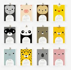 A dozen adorable animals by Loopz (via the house that lars built http://thehousethatlarsbuilt.blogspot.com/2012/01/calendar-pics-for-2012.html) $14