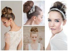 wedding veil above bun - Google Search