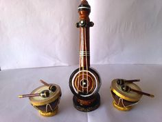 This musical instruments is made with waste xerox papers cut into quilling strips (quilling item)