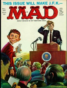 What's Your Favorite Mad Magazine Cover? Vintage Comic Books, Vintage Magazines, Vintage Comics, Mad Magazine, Time Magazine, Magazine Covers, Magazine Articles, Magazine Rack, Aliens Funny