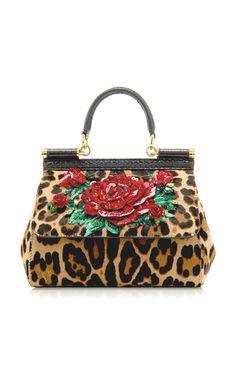 34a16bc2a5f149 Sicily Embellished Leopard-Print Pony Hair Bag