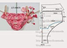 Diy idea how to make tutorial sew little girl underpants