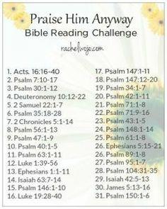 prase him anyway Bible reading plan2