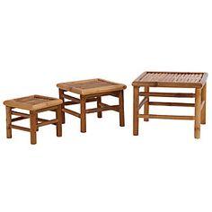 SM       Set 3 Mesas Laterales Bambú