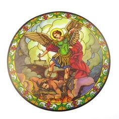 This Static Sticker can be adhered to and peeled off any surface. They can be used over and over again on windows, cars, mirrors, etc. in diameter. Window Stickers, Window Decals, Vinyl Decals, Verre Design, Glass Design, Saint Antony, Sun Catchers, Stained Glass Suncatchers, St Michael