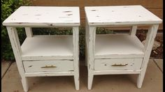 Chippy shabby nightstands by THE BIRCH TREE