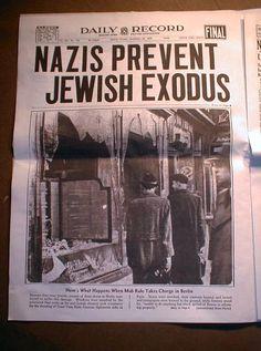 15 Reprint Headline Newspapers Judaica 1933 1946 w The Holocaust in Nazi Germany