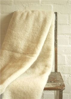 Mohair Mill Shop | Mohair Blankets | Natural Cream Mohair Blanket