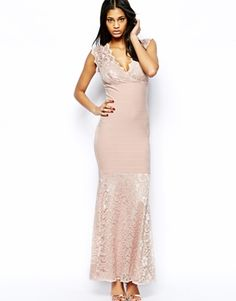Image 4 ofLipsy Lace Maxi Dress with Wrap Front