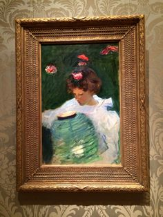 Study for Carnation, Lily, Rose (1885),  John Singer Sargent @ MFA Boston, The American Wing