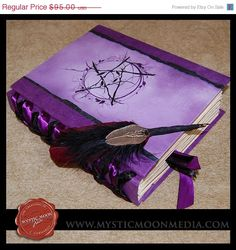 Violet Wooded Pentagram Book of Shadows #Wicca