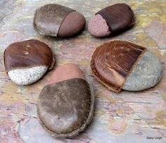 Colorado River Stone and Leather Paper Weight by Stacy Leigh Ready to Ship