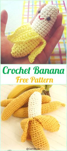 Crochet Amigurumi Banana Free Pattern- Crochet Amigurumi Fruits Free Patterns