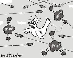matador cartoons: En fuego cruzado. Así va la paz en Colombia