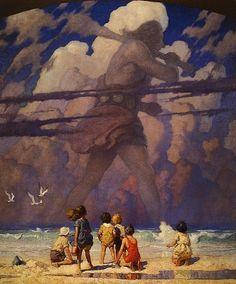 """The Giant"", 1923, N.C. Wyeth."