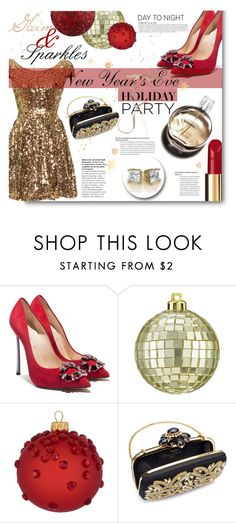 """""""Now my mascara running, red lipsick smudged"""" by sunshineb ❤ liked on Polyvore featuring Chanel, Casadei, CB2, Ball, Oscar de la Renta and Anja"""