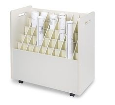 Safco easy access blueprint roll files dads storage room 50 compartment roll storage remodelista i would love this for my stabilizers but not at this price and probably a bit smaller malvernweather Image collections