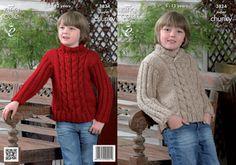 King Cole Super Chunky Knitting Pattern - 3824 Sweaters - £2.95