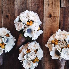 Felt Wedding Bouquet by TheFeltFlowerShop on Etsy