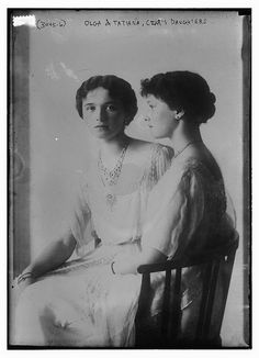 Olga and Tatiana, Czar's daughters, 1910; care of Library of Congress