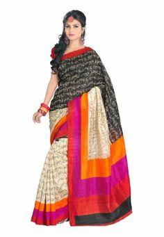 Fabdeal Indian Designer Bhagalpuri Silk Black Printed Saree Fabdeal, http://www.amazon.de/dp/B00INWIJ2S/ref=cm_sw_r_pi_dp_O46otb1BFMEW2