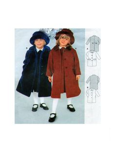 Burda 2646 Childrens Box Cut Coat Button Front Round Collar Back Vent and Pocket Option Sewing Pattern Size 2-3-4-5-6-7 UNCUT by FindCraftyPatterns on Etsy