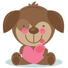Cute Valentine Puppy scrapbook cuts SVG cutting files doodle cut files for scrapbooking clip art clipart doodle cut files for cricut free svg cuts