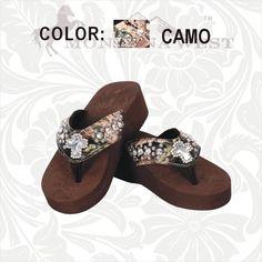 Camo Cross Flip Flops  - Western  Camo sandels !!!
