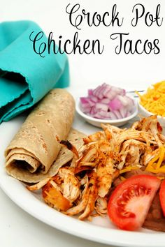 The easiest camping recipe you'll ever come across: Crockpot Salsa Chicken! Plus I'm giving you 8 different (easy) recipes to use it! - Saving Money Camping www. Slow Cooker Chicken Tacos, Chicken Taco Recipes, Shredded Chicken Recipes, Mexican Food Recipes, Salsa Chicken, Slow Cooker Recipes, Crockpot Recipes, Cooking Recipes, Easy Recipes