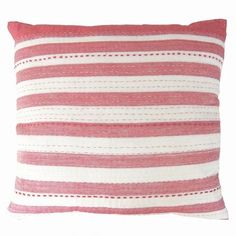 Striped Cushions, Red And White Stripes, Hand Stitching, Hand Weaving, Throw Pillows, Handmade, Sally, Cherry, Textiles