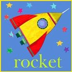 rocket card. Square card co