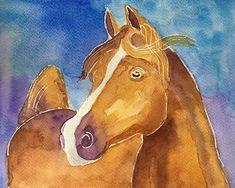 Aquarelle mai et juin 2020 Annie, Moose Art, Horses, Animals, June, Watercolor Painting, Paint, Animales, Animaux