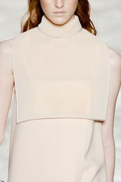 Chic Simplicity - minimal dress with bib top; fashion details // Gabriele Colangelo Fall 2013