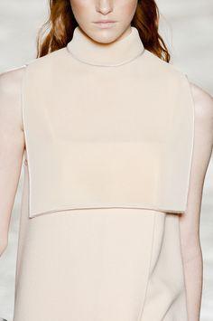 Chic Simplicity - minimal dress with bib top; fashion details // Gabriele Colangelo Fall 2013