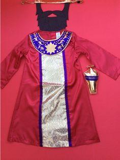 Wise Men King Costume School Nativity unisex  boy girl with Beard Crown Age 3/4