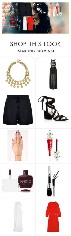 """SELENA GOMEZ'S 'COME & GET IT' MUSIC VIDEO: LOOK BY LOOK"" by oroartye-1 on Polyvore featuring BaubleBar, Three Floor, Boohoo, Kenneth Cole, Christian Louboutin, Nails Inc., Lancôme, STELLA McCARTNEY and Isabel Marant"