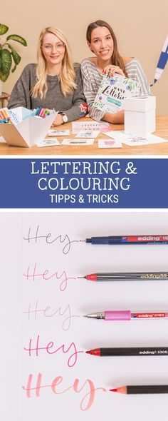 DIY-Inspiration für #Lettering & #Colouring: Lerne in sechs Videos angesagte Techniken, wie Brush Lettering, #Aquarellieren oder Colouring mit edding und May & Berry / lettering and colouring video tutorial: learning brush lettering, bullet journaling and more via DaWanda.com // #dawandaandfriends