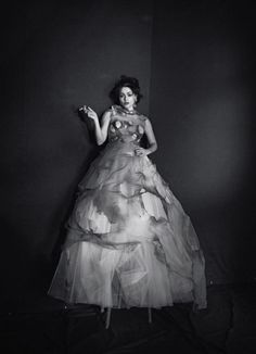 Helena Bonham Carter (in Giles Fall 2012) photographed by Peter Lindbergh for Interview Russia, June/July 2012
